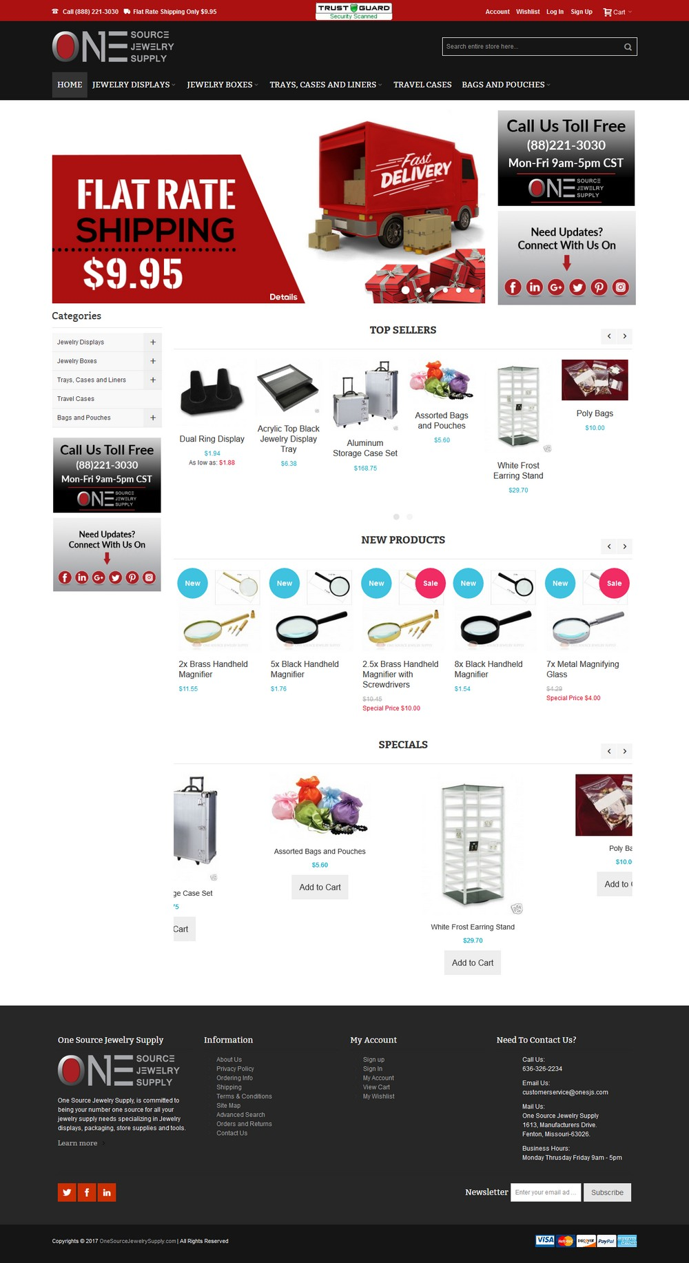 One Source Jewelry Supply - Successfully Delivered Projects On-Time and On-Budget. Improved Website Conversation Rate By 80% Against Existing Control.