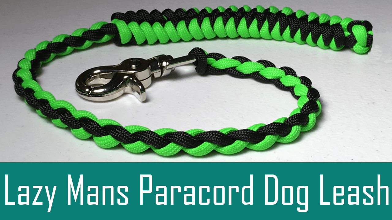 Lazy Mans Paracord Dog Leash - 4 Strand Round Braid - Paw-Palz