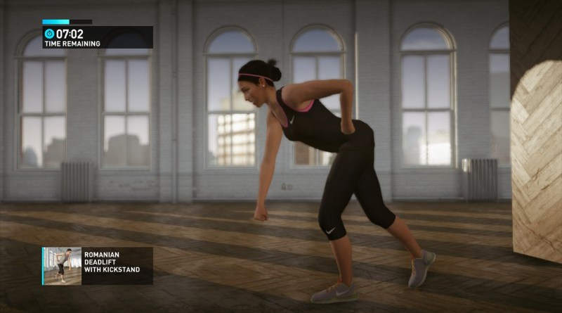 Nike+ Kinect Training - rumuński martwy ciąg