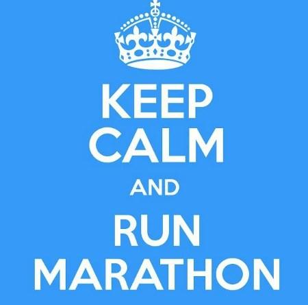 Keep calm and run marathon