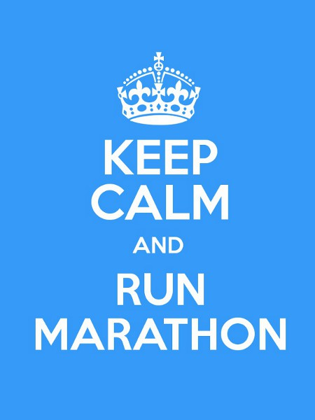 Keep calm and run marathon