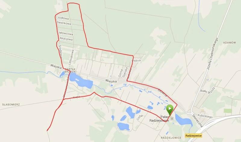Bieg Chelmonskiego - trasa