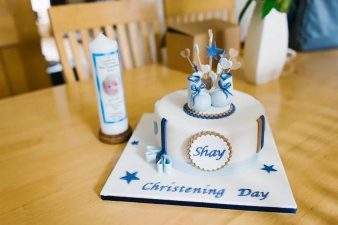 christening baptism cake candle