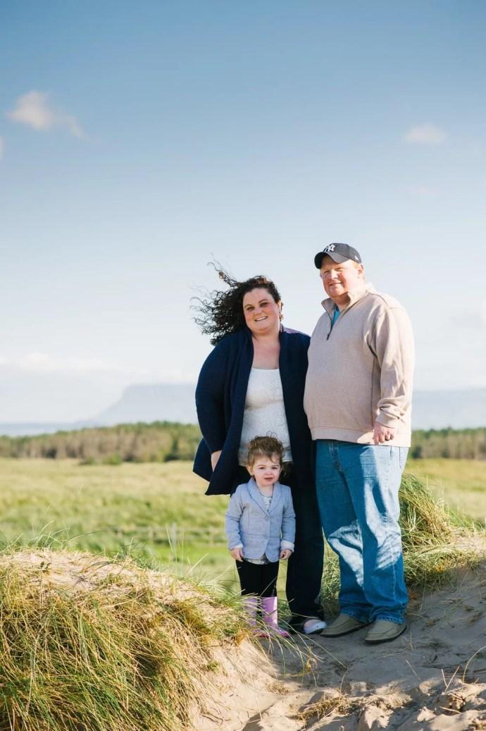 Strandhill beach family photo session