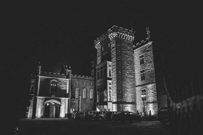 markree castle hotel in Sligo at night