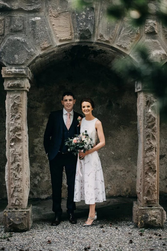 wedding portrait in Belleek Castle garden