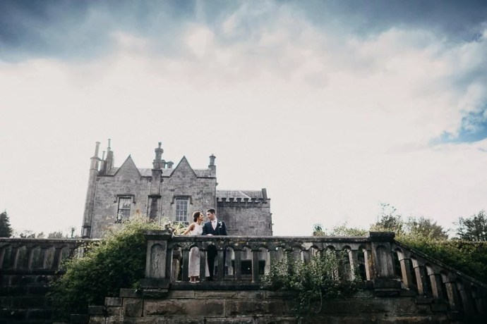 Belleek Castle wedding portrait
