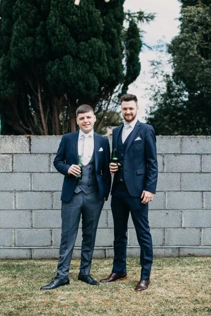 groom with best man on Sligo wedding
