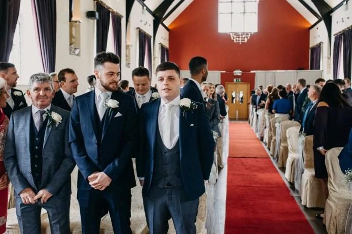 groom is waiting for bride in Clayton Hotel Sligo