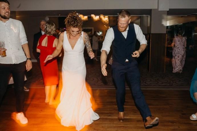 crazy wedding dancing at castle dargan venue, Sligo, Ireland