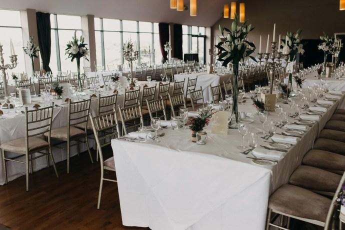 Classic wedding reception at Castle Dargan venue, Sligo