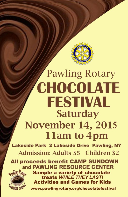 2015 pawling chocolate festival poster