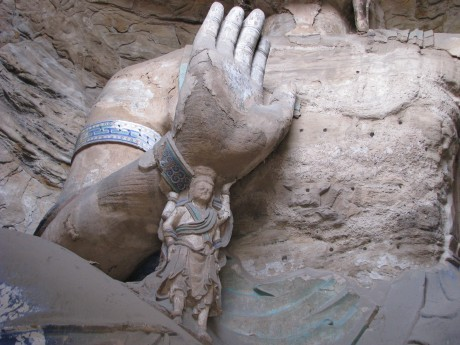 Datong - wiszące klasztory igroty Yungang 16