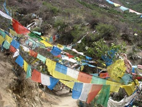 Tybet - Chimphu (Chim-puk) - miejsce domedytacji 5