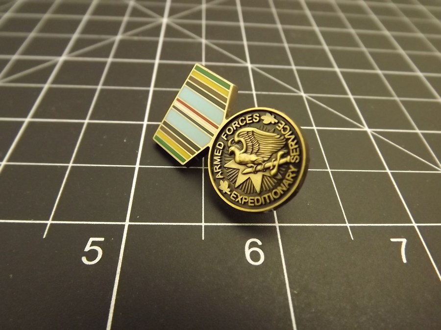 "BRAND NEW Lapel Pin Armed Forces Expeditionary Service Medal Enamel 1 3/16"" 2"