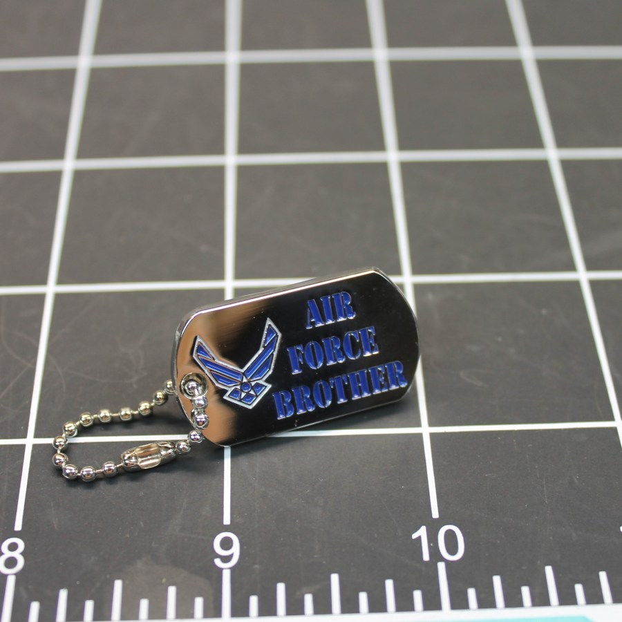 """BRAND NEW Lapel Pin United States Air Force Brother Enamel 1-1/4"""" DOG TAG 1"""