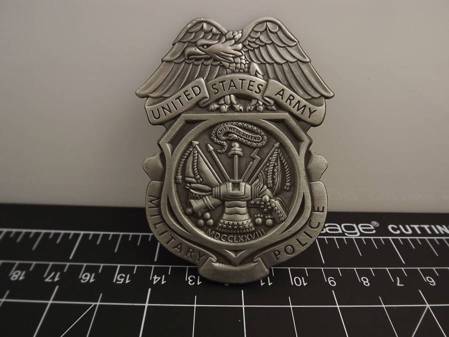 """BRAND NEW BADGE U.S. ARMY Brigade MILITARY POLICE 2-3/4"""" HEAVY WEIGHT PEWTER FULL SIZE 1"""