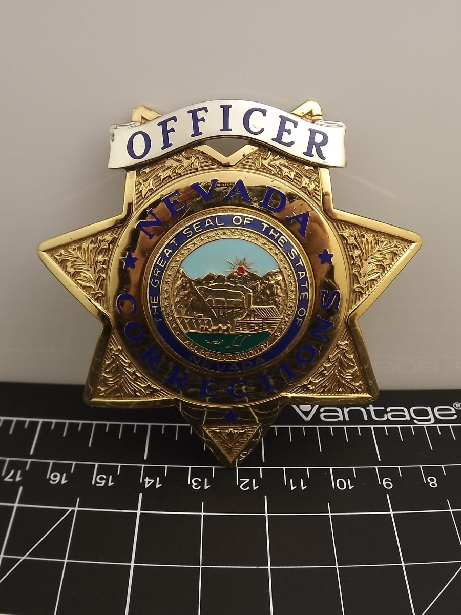 Full-size Nevada corrections officer law enforcement badge looks to be an almost new shape BLACKINTON 1