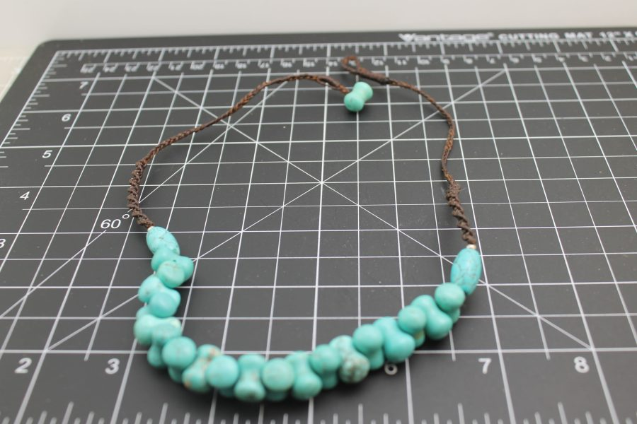 Beautiful Brand-New Hand Strung Turquoise Necklace Approximately 18 Inches Long 1