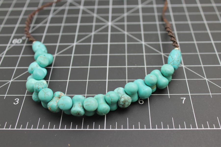 Beautiful Brand-New Hand Strung Turquoise Necklace Approximately 18 Inches Long 2