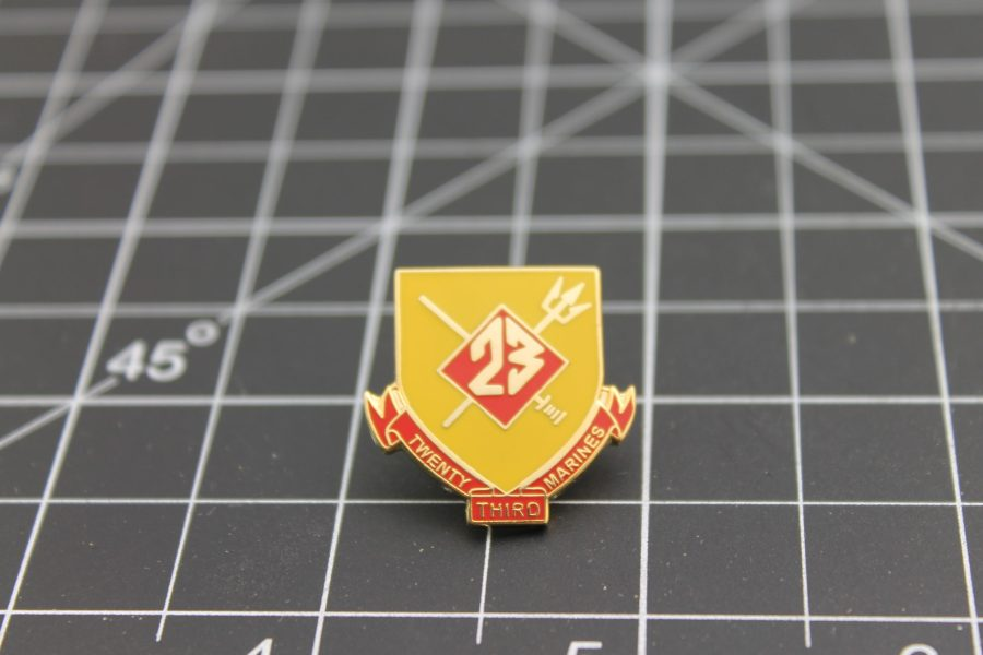 United States Marine Corps 23rd Regiment Lapel Pin Brand-New Enamel Lifetime Guarantee 1 Inch 1
