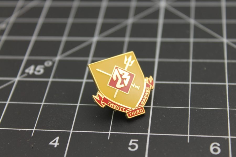 United States Marine Corps 23rd Regiment Lapel Pin Brand-New Enamel Lifetime Guarantee 1 Inch 2