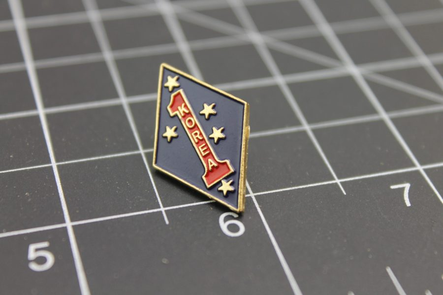 United States Marine Corps Big Red One Korea Lapel Pin Brand-New USMC 2