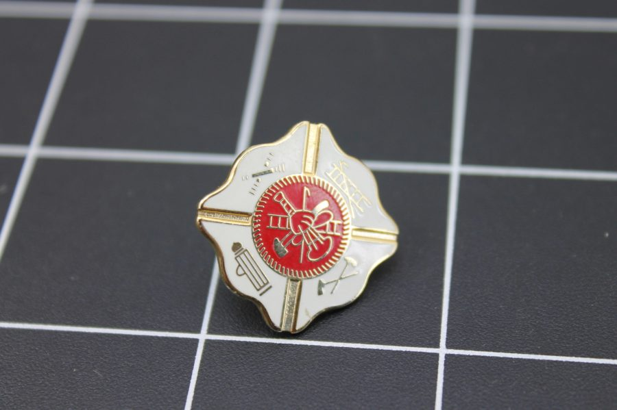 "Brand-New FIRE DEPARTMENT Fireman ""AMERICA'S BRAVEST"" Enameled Lapel Pin Lifetime Guarantee 2"