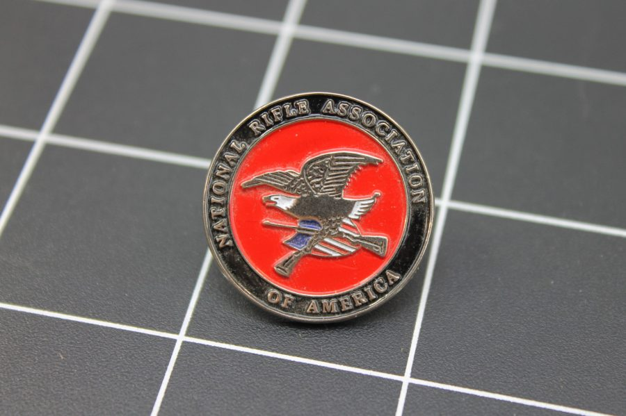 Brand-New NATIONAL RIFLE ASSOCIATION OF AMERICA Enameled Lapel Pin Lifetime Guarantee NRA 1