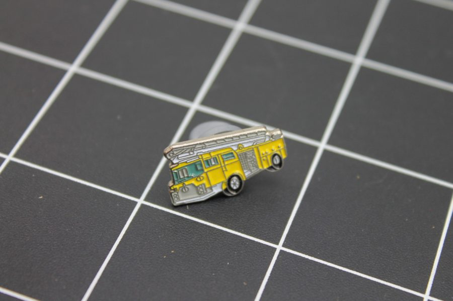 Brand-New FIRE TRUCK YELLOW Fireman Enameled Lapel Pin Lifetime Guarantee 2