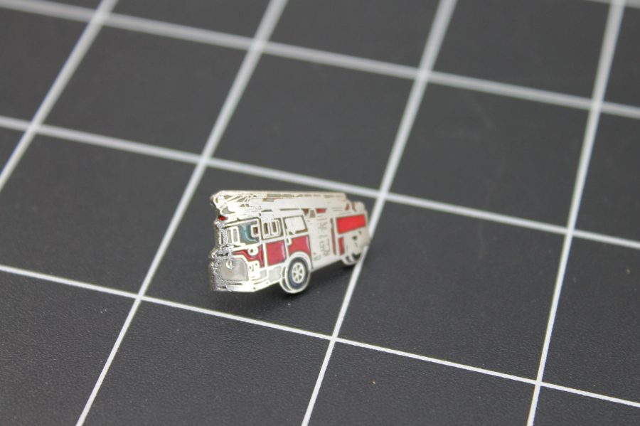Brand-New FIRE TRUCK RED WITH LADDER Fireman Enameled Lapel Pin Lifetime Guarantee 2