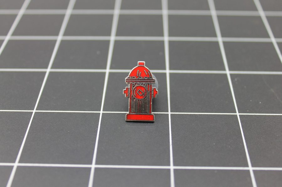 Brand-New FIRE DEPARTMENT FIRE HYDRANT Fireman Enameled Lapel Pin Lifetime Guarantee 1