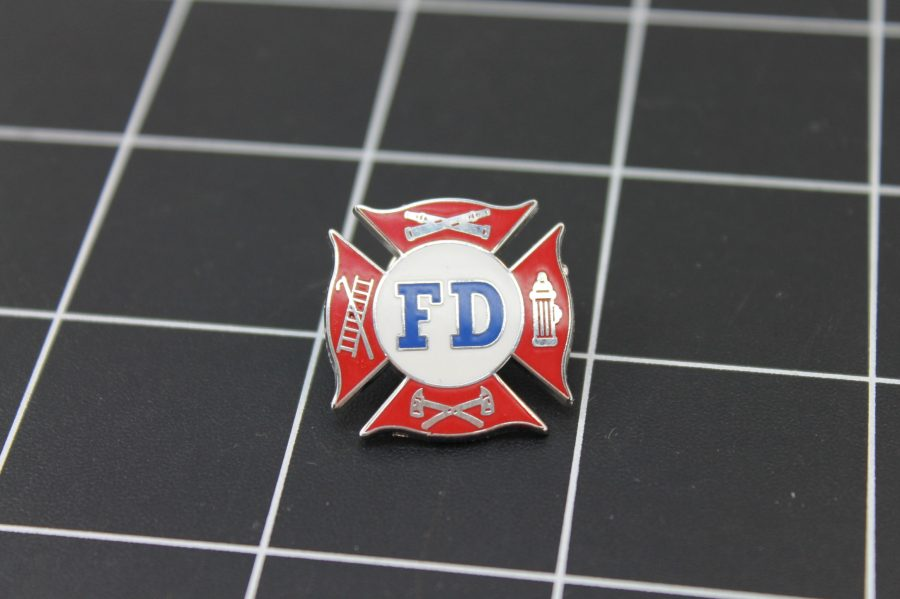 "Brand-New FIRE DEPARTMENT Fireman F.D. ""AMERICA'S BRAVEST"" Enameled Lapel Pin Lifetime Guarantee 1"