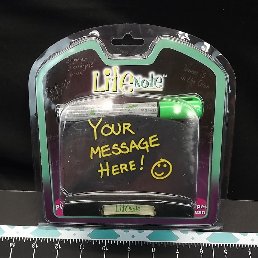 """PLUG-IN WIPES CLEAN """"LITE NOTE"""" PLUG IN MESSAGES FOR YOUR COUNTER-HOME  BRAND NEW ELECTRIC 1"""