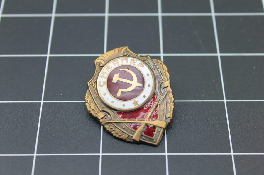 ENAMEL RUSSIA SOVIET UNION MILITARY BADGE 1