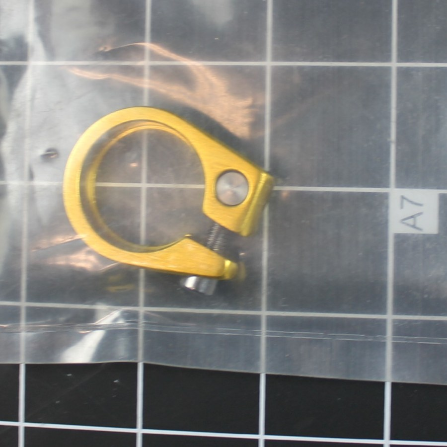 New CRUPI BMX SEAT POST CLAMP COLOR: GOLD  SIZE: 25.4MM MATERIAL: ALLOY Fits GHP SE Redline 2