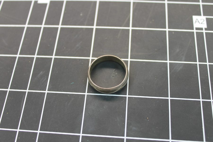 VINTAGE STERLING SILVER 925 WIDE WEDDING BAND RING 7.0 GRAMS SIZE 13 2