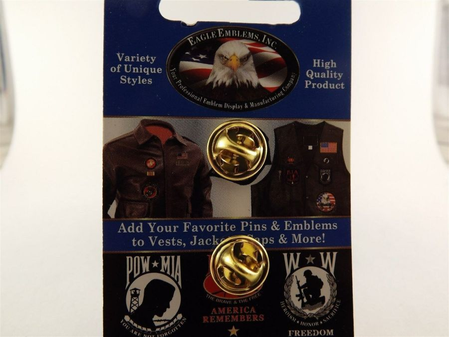 "BRAND NEW Lapel Pin National Defense Medal Red & Yellow Enamel 1 3/16"" 3"