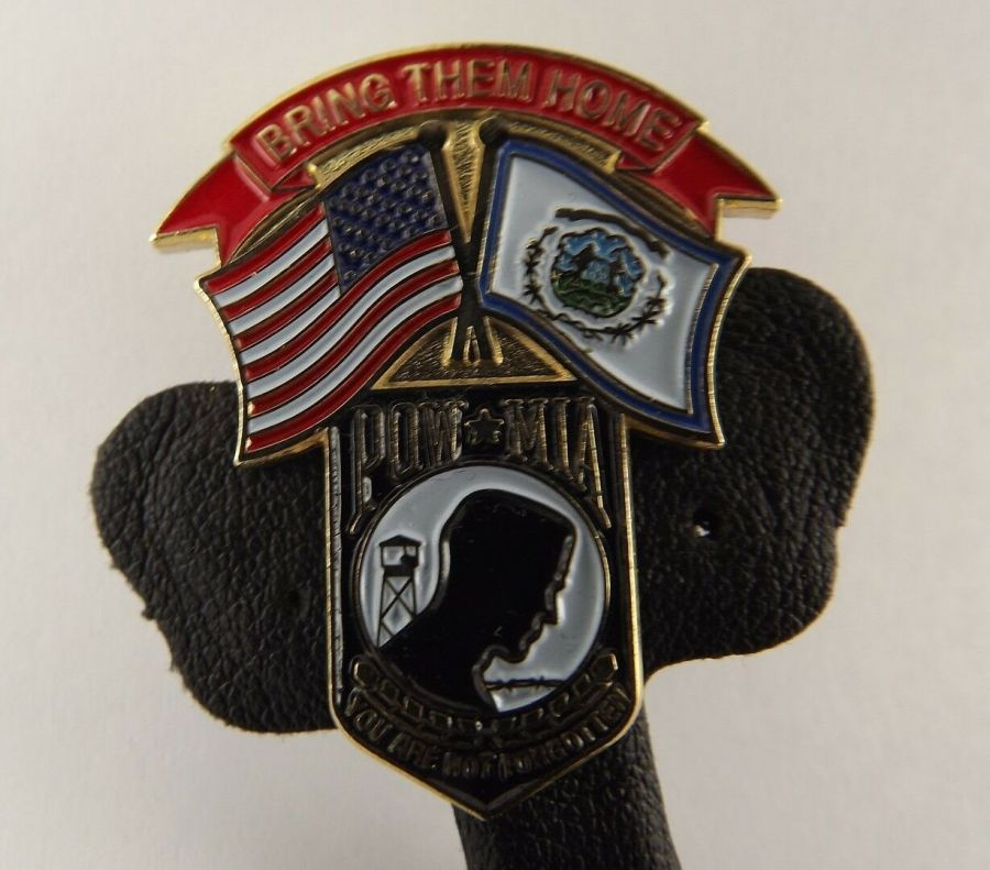 """BRING THEM HOME"" POW MIA FLAG LAPEL / HAT PIN BRAND NEW ENAMELED 1"