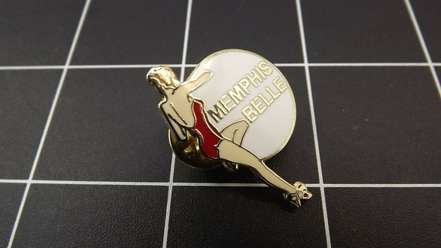 Collectible Enamel Pin Up Girl Lapel Pin Hat Pin Shirt Pin Memphis Belle 3