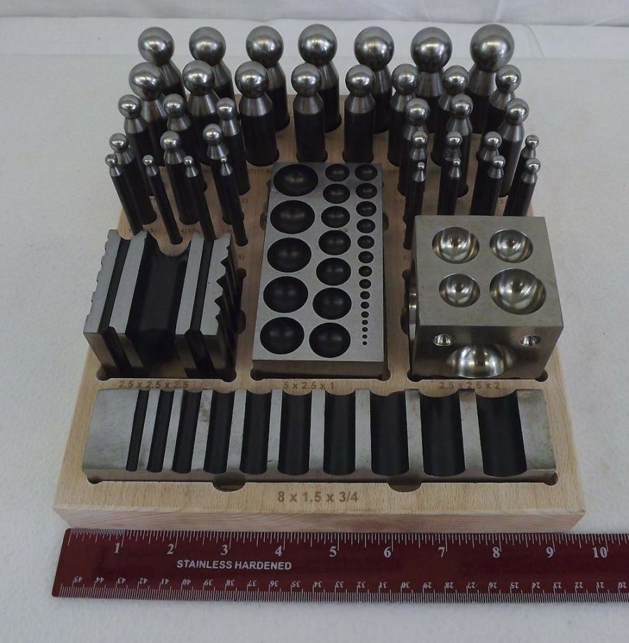 New 41-PC Jewelers Dapping Block Set Metal Forming Tool Goldsmith Silversmith 6