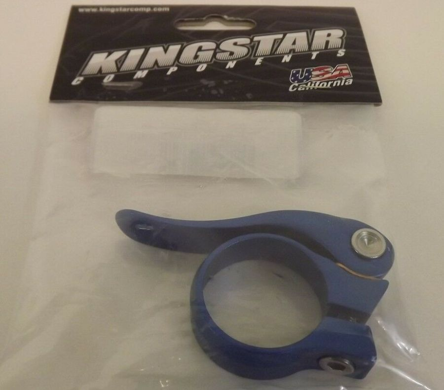 New Kingstar BMX Quick Release Seatclamp 31.8 BLUE Fits Crupi GHP SE Redline 1