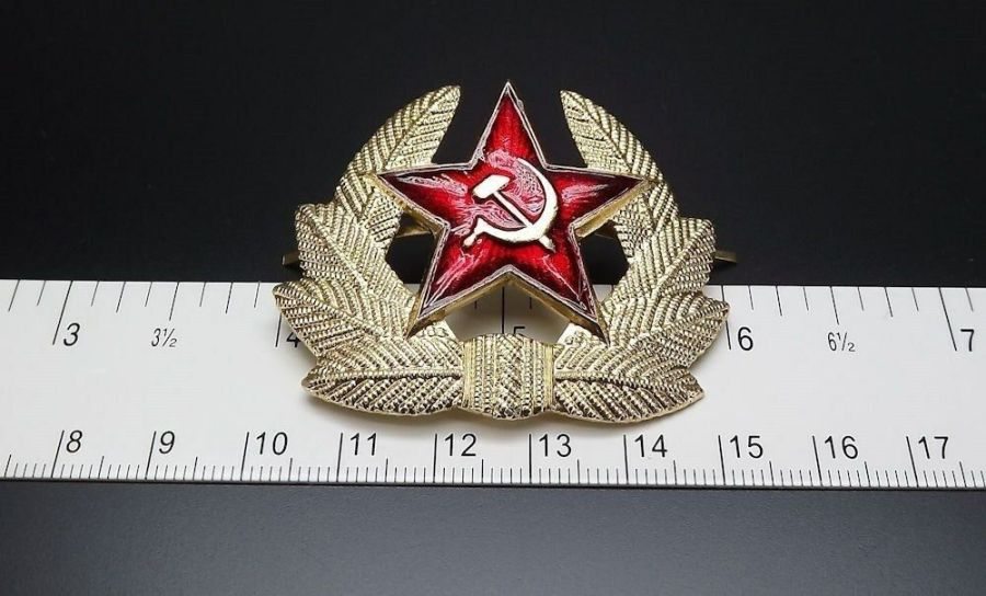 Soviet Russian army military RED STAR hat beret badge SURPLUS NEW CONDITION 3