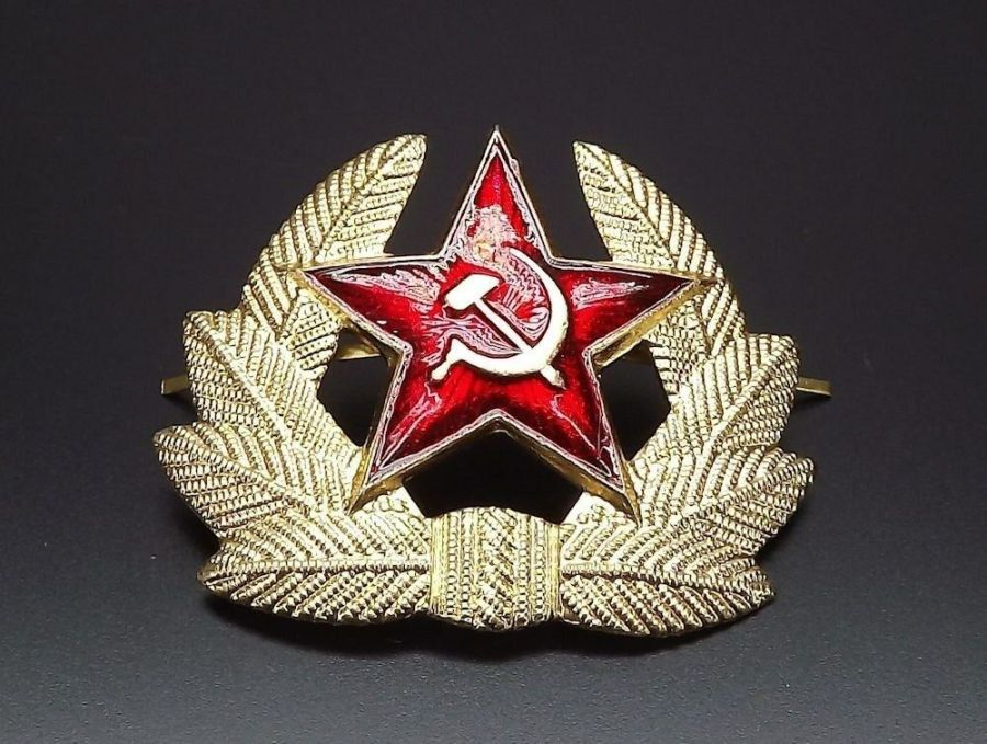 Soviet Russian army military RED STAR hat beret badge SURPLUS NEW CONDITION 5