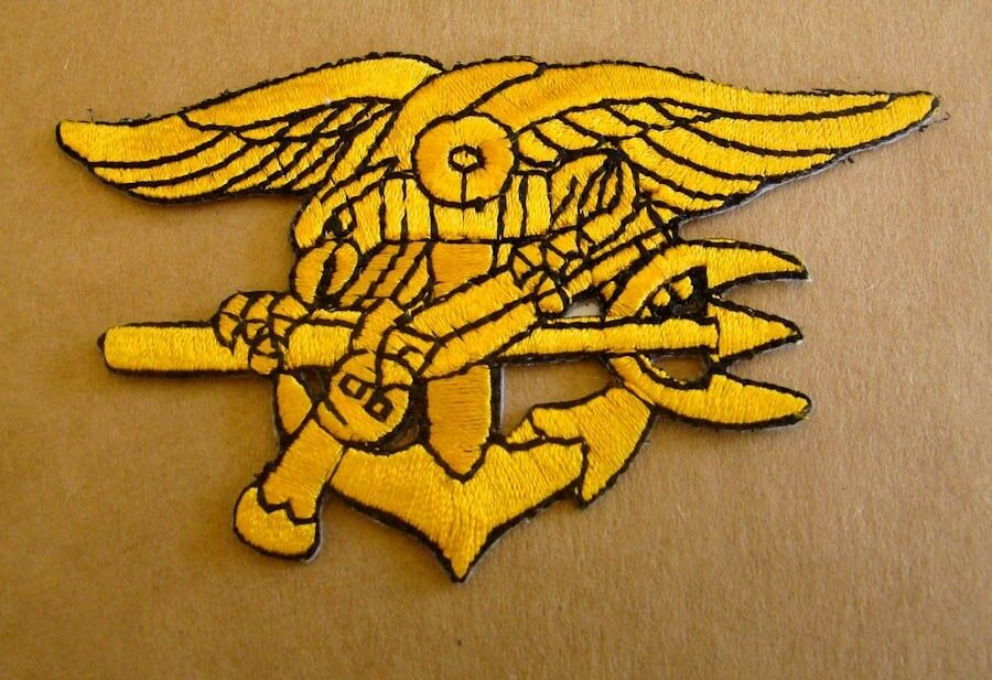 USN US Navy Trident Cut Out Iron On Patch 1