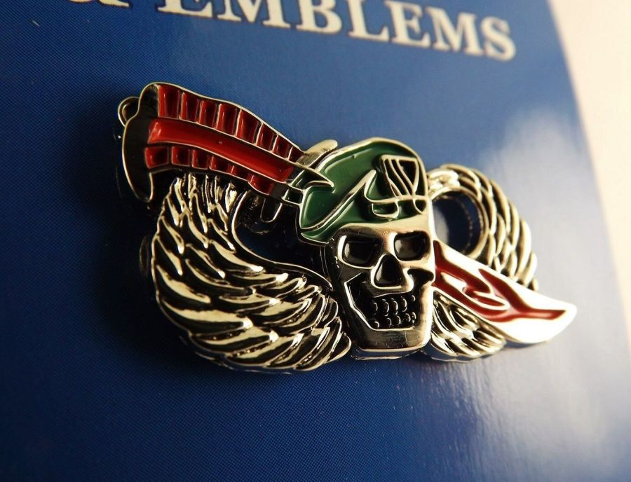 "BRAND NEW Lapel Pin Green Beret Skull With Wings & Sword Knife Enamel 1"" 1"