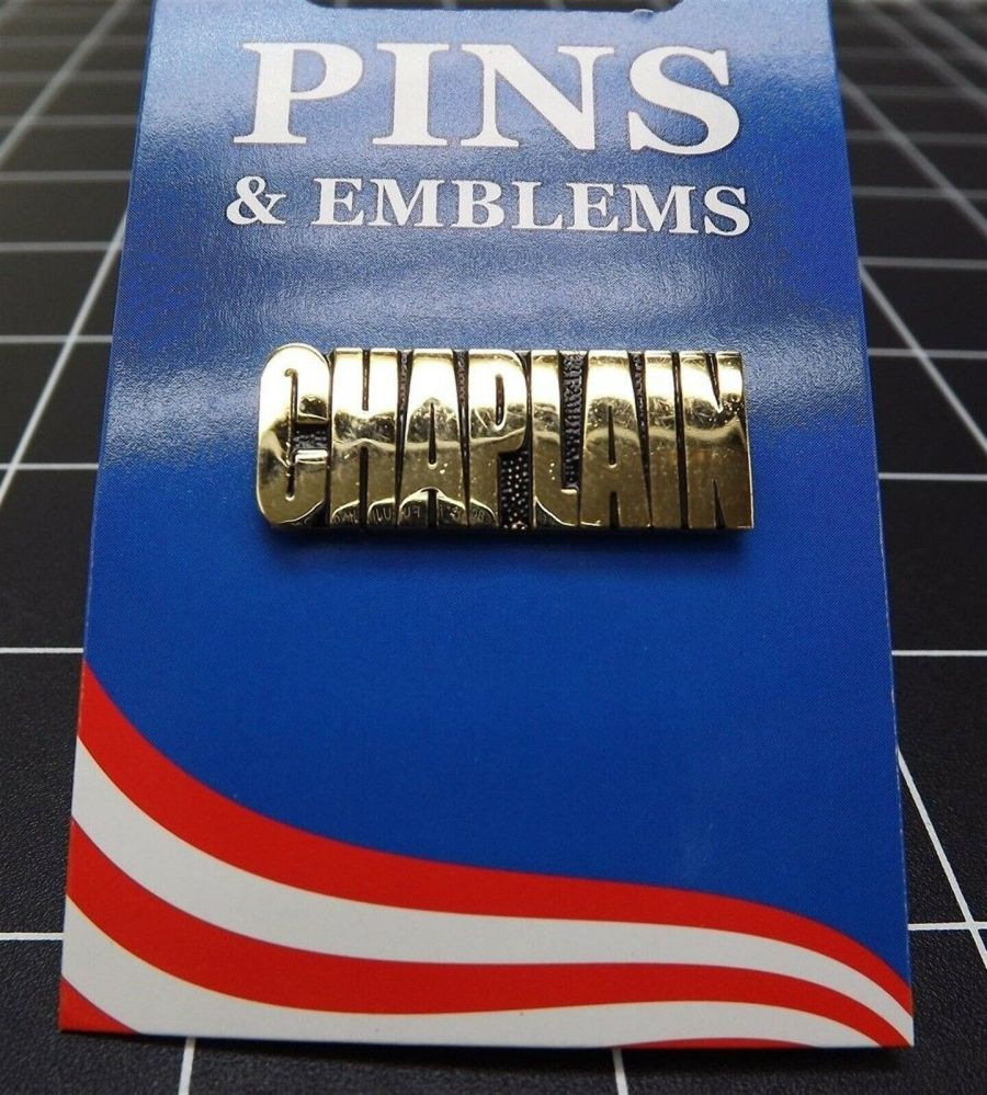 """BRAND NEW Lapel Pin United States Army Chaplain Gold Tone 1"""" 1"""