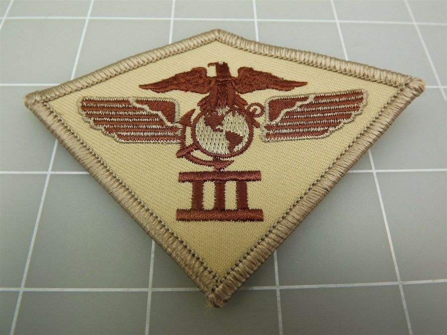 """BRAND NEW U.S. Marine Corps USMC 3RD AIR WING DIVISION Desert Patch 3 3/4"""" 1"""