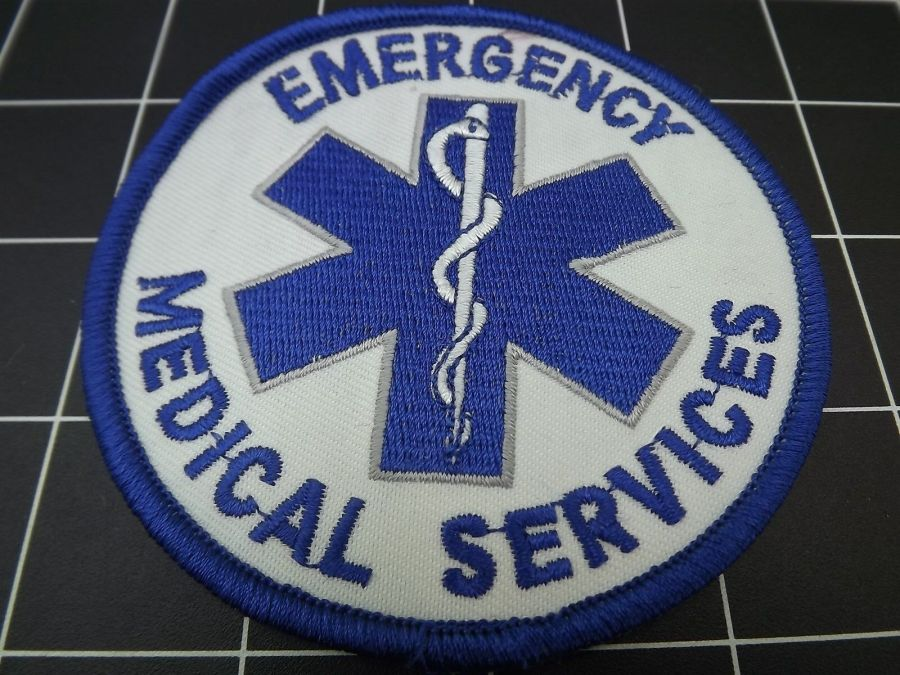 """""""EMERGENCY MEDICAL SERVICES"""" BRAND NEW PATCH IRON-ON 3"""