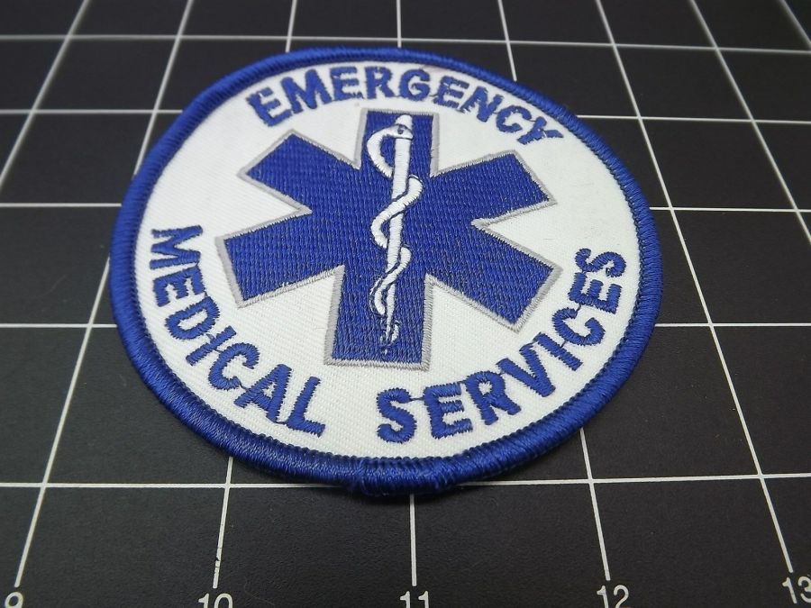 """""""EMERGENCY MEDICAL SERVICES"""" BRAND NEW PATCH IRON-ON 1"""